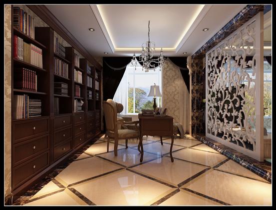 简约 欧式 别墅 80后 书房图片来自乐豪斯-卜杨烁在翰林怡园250平米简欧效果展示。的分享
