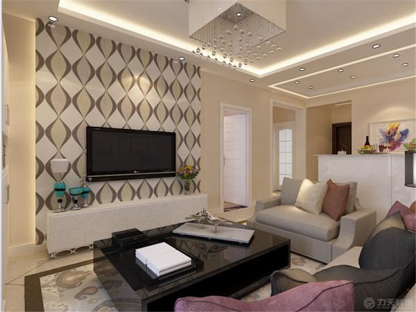 本户型为天房玺岳两室两厅一厨一卫95平米的户型,本设计方案为现代简约风格。