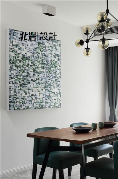 北岩设计 兰亭雅苑 实景照片 现代 简约 跃层 阁楼 餐厅图片来自北岩DESIGN在兰亭序•影的分享