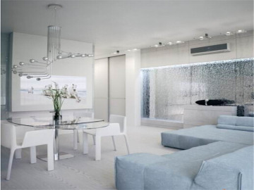 宁静柔和的白色公寓