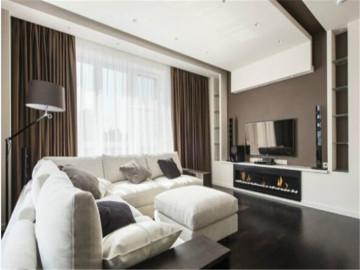 简单大气的灰褐色调现代公寓