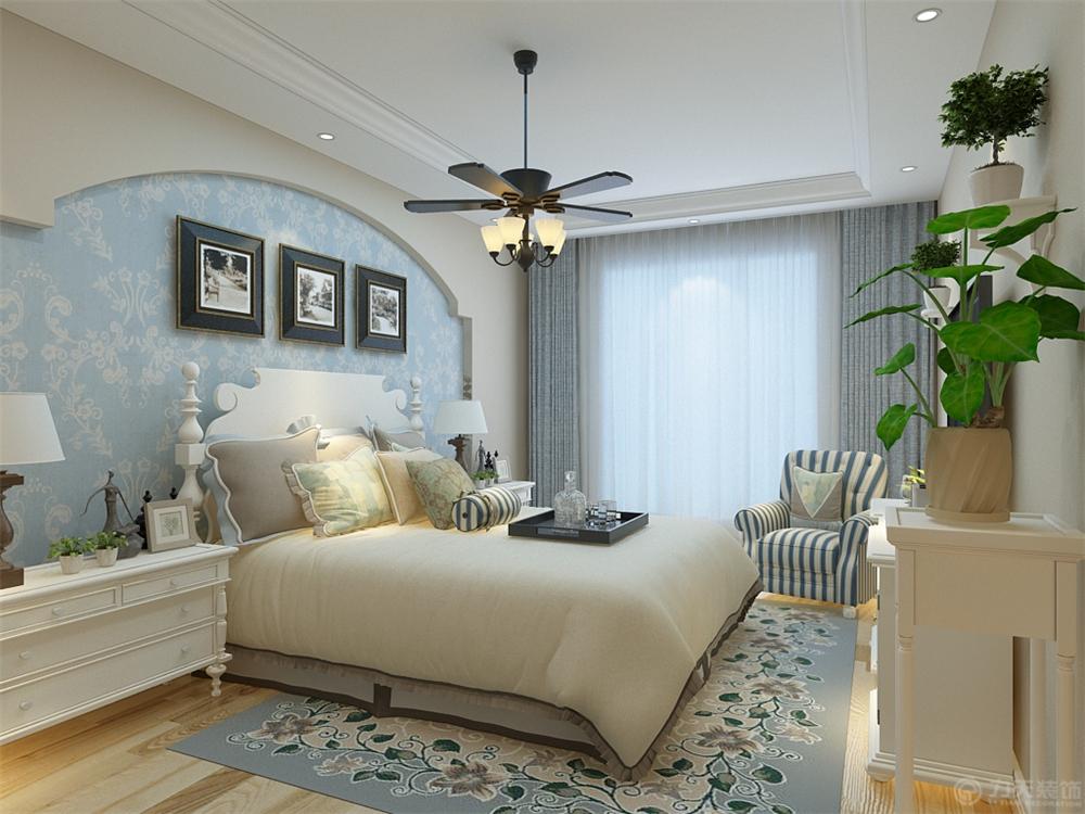 地中海 三居 白领 收纳 80后 小资 卧室图片来自阳光力天装饰在力天装饰-海河大观123㎡的分享