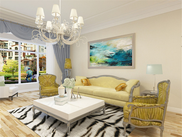 本次案例设计的是欣荣嘉园104平米两室一厅户型。本次案例的设计风格是简欧风格。