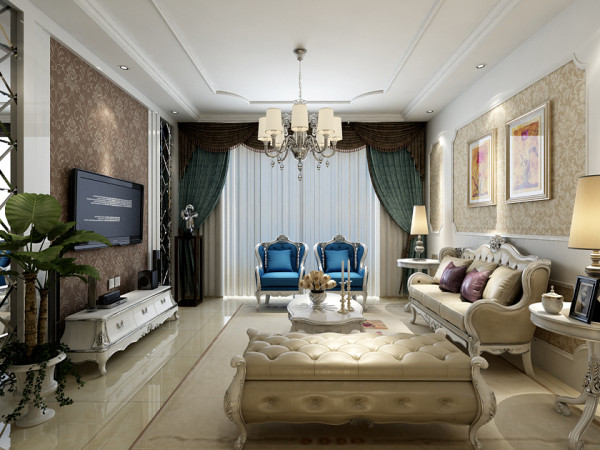 欧式风格三居室装修