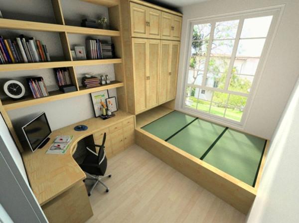 书房做了榻榻米,既可以休闲娱乐家里来客人还可以当做客房使用,当然储物功能的强大就不用多说了。