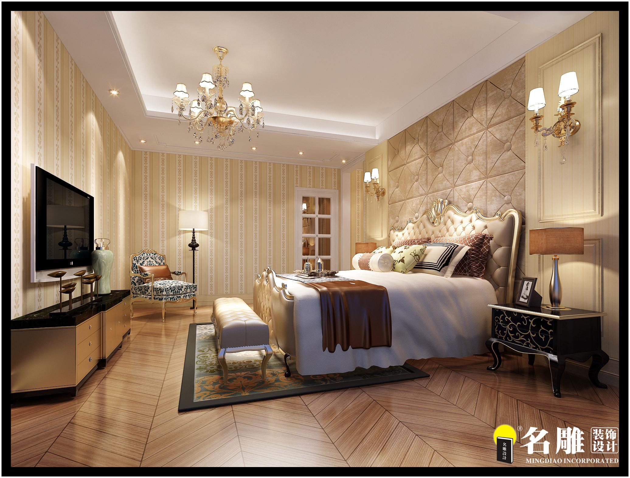 欧式 三居 环保 华丽 温和 卧室图片来自名雕装饰长沙分公司在中粮北纬28°欧式平层的分享
