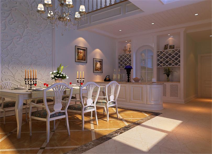 别墅 白领 收纳 80后 小资 餐厅图片来自实创装饰完美家装在燕郊孔雀城300平简欧风格案例的分享