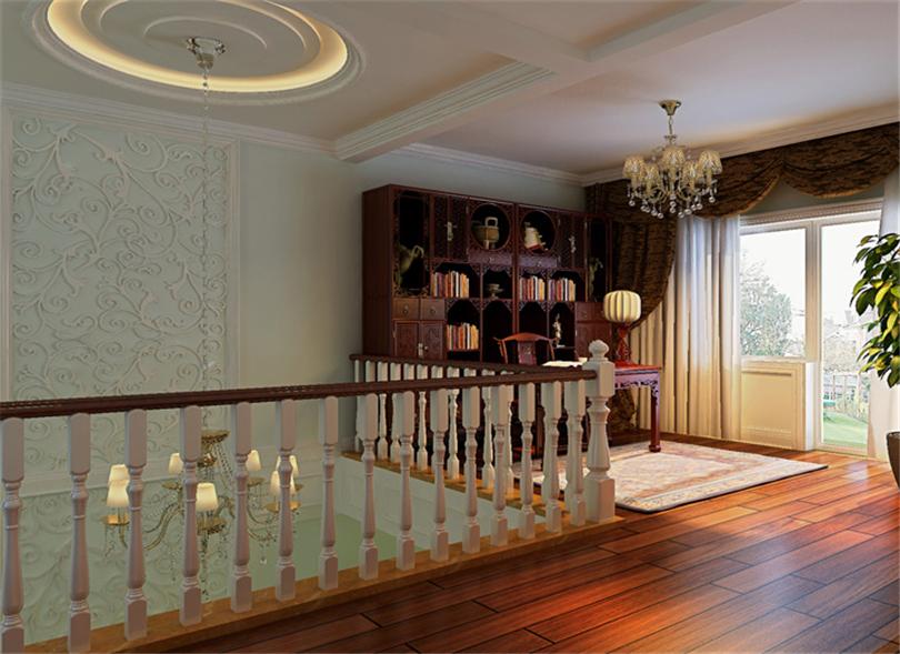 别墅 白领 收纳 80后 小资 书房图片来自实创装饰完美家装在燕郊孔雀城300平简欧风格案例的分享