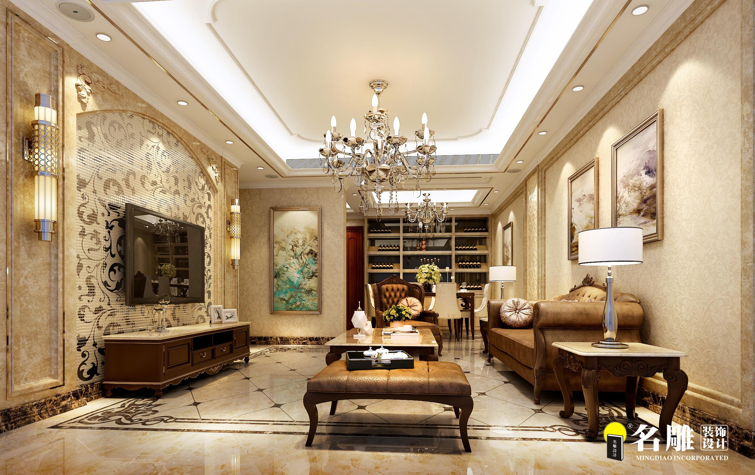 欧式 三居 环保 华丽 温和 客厅图片来自名雕装饰长沙分公司在中粮北纬28°欧式平层的分享