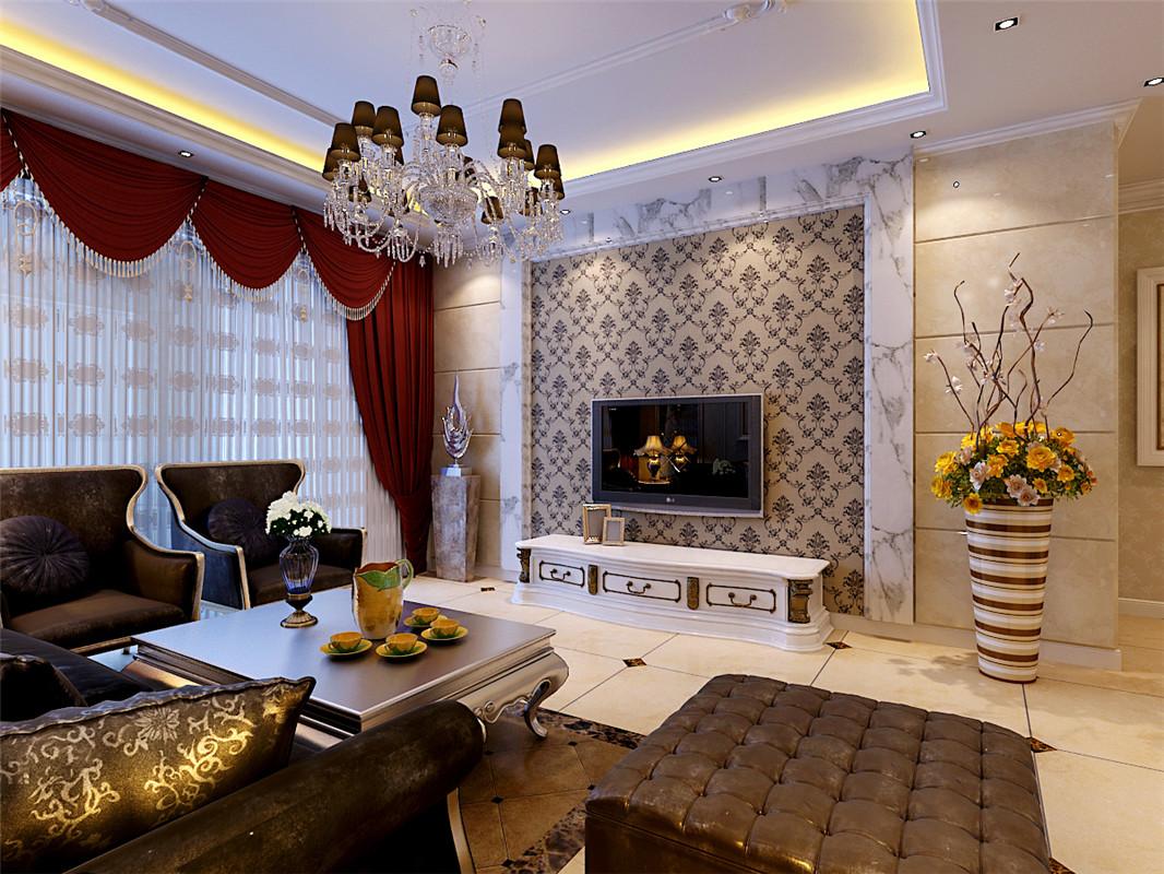 兴龙湾 简欧 三居 客厅图片来自郑州实创装饰啊静在富田兴龙湾简欧三居的分享