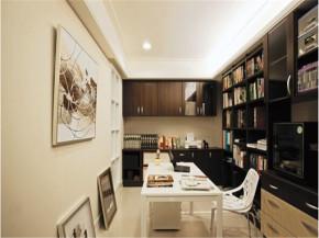 北欧 温馨 128平 三居 书房图片来自北京精诚兴业装饰公司在128平北欧田园风格温馨公寓的分享