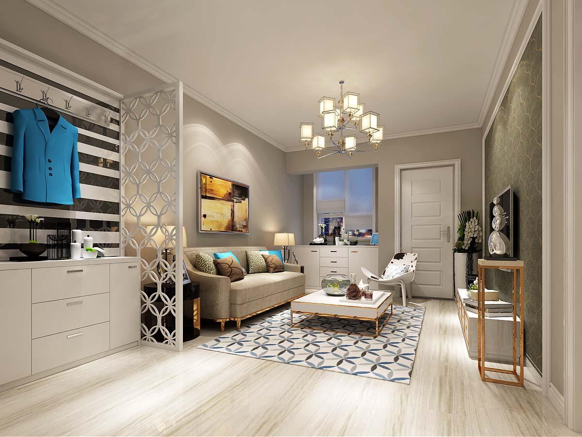 客厅图片来自太原金尚装饰王卓娅在现代简约-百德尚景-95平的分享