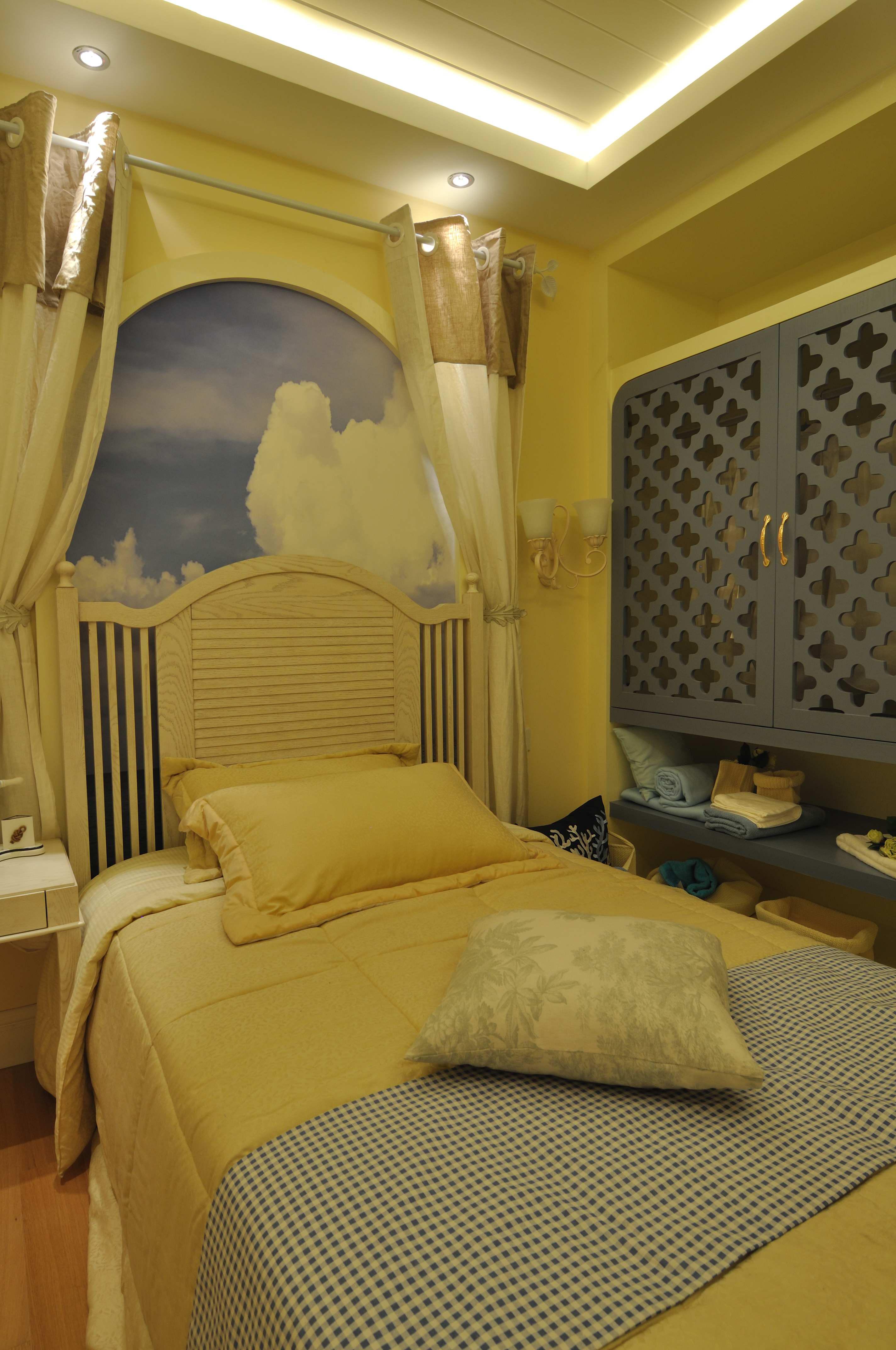 简约 收纳 白领 三居 小资 温馨 地中海 卧室图片来自合肥生活家在华地公馆-110平-地中海风格的分享