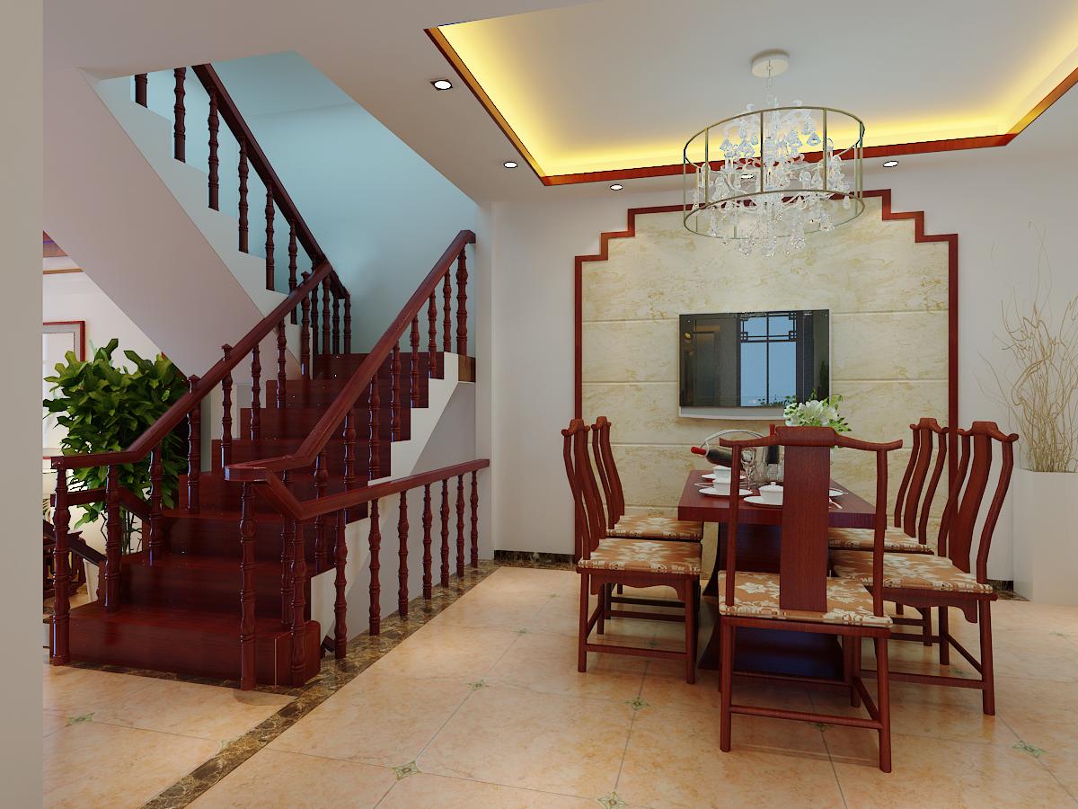 森林湖 新中式 三居 餐厅图片来自郑州实创装饰啊静在森林湖新中式三居的分享