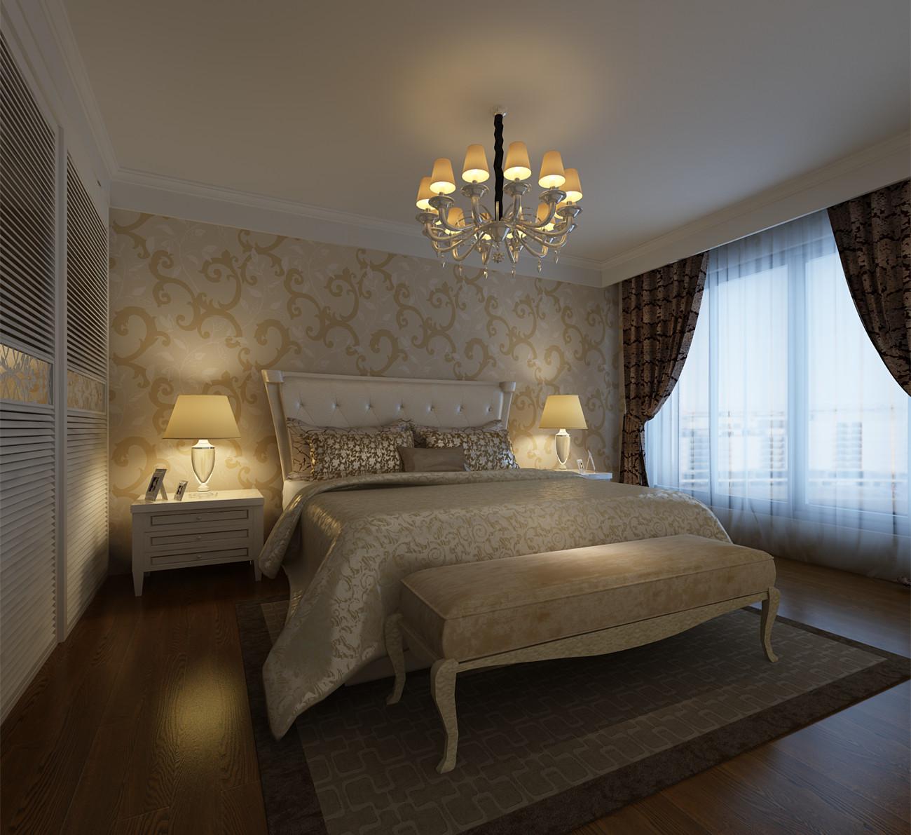 欧式 三居 白领 收纳 80后 简欧风格 中环城云邸 卧室图片来自合肥生活家在中环城云邸-140平-简欧风格的分享
