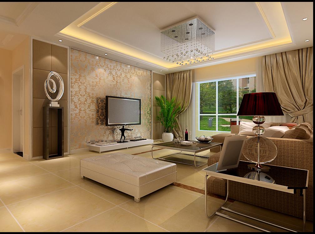 紫荆华庭 现代简约 两居 客厅图片来自郑州实创装饰啊静在绿都紫荆华庭现代简约两居的分享
