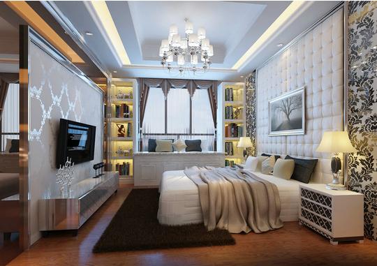 卧室图片来自天津印象装饰有限公司在都市新居装饰 案例赏析2015-10-3的分享