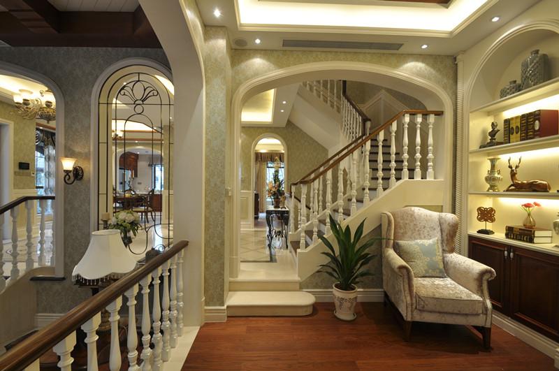美式 别墅 白领 小资 楼梯图片来自北京装修设计o在拉斐水岸之美式风格装修设计的分享