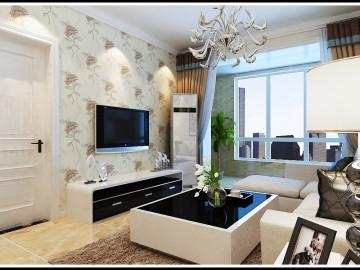 瀚唐小区86平米两室现代简约装修