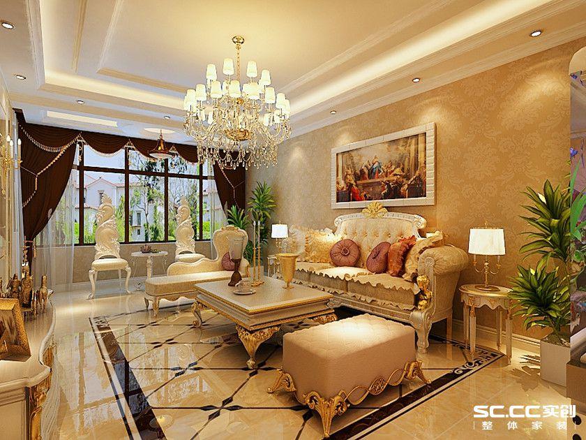三居 欧式 白领 80后 小资 客厅图片来自实创苗苗在【实创装饰】西沣公元欧式风格的分享