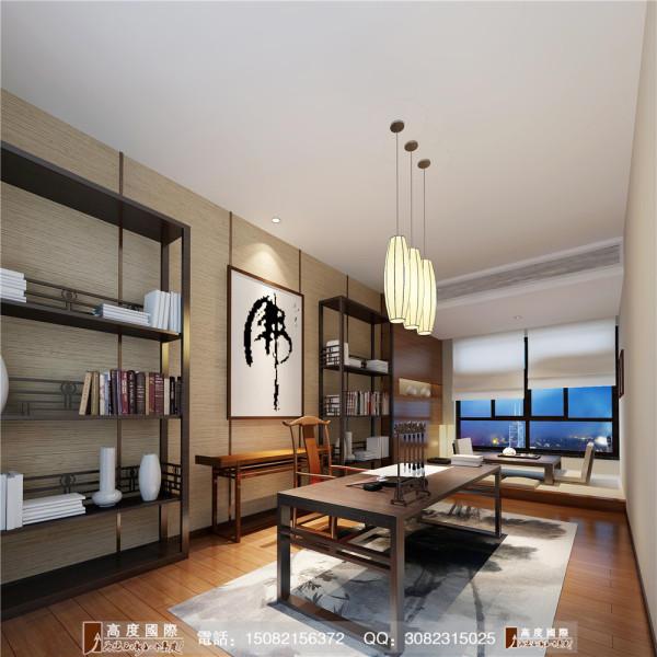 九号公馆书房细节效果图----高度国际装饰设计