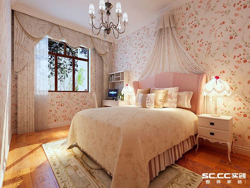 三居 欧式 白领 80后 小资 卧室图片来自实创苗苗在【实创装饰】西沣公元欧式风格的分享