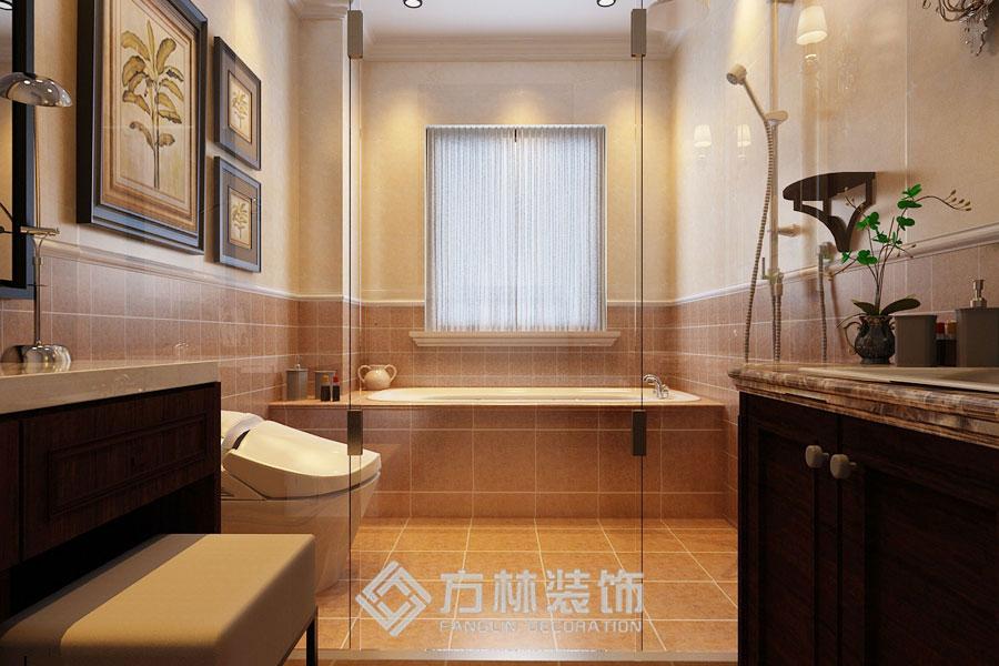 金地名京 港式 卫生间图片来自方林装饰在金地名京180平港式风格的分享