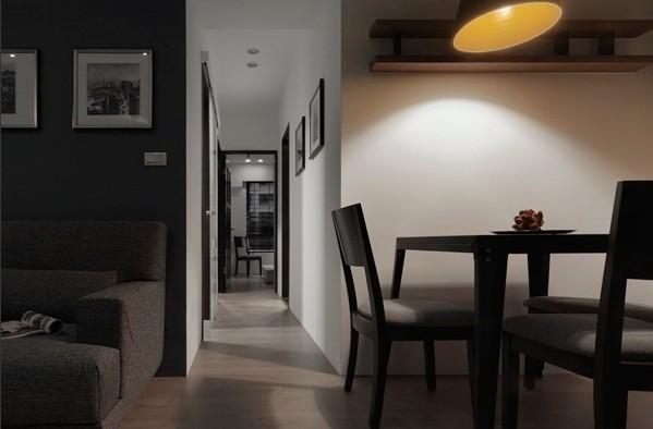 混搭 餐厅图片来自四川岚庭装饰工程有限公司在70平米混搭风一居室的分享