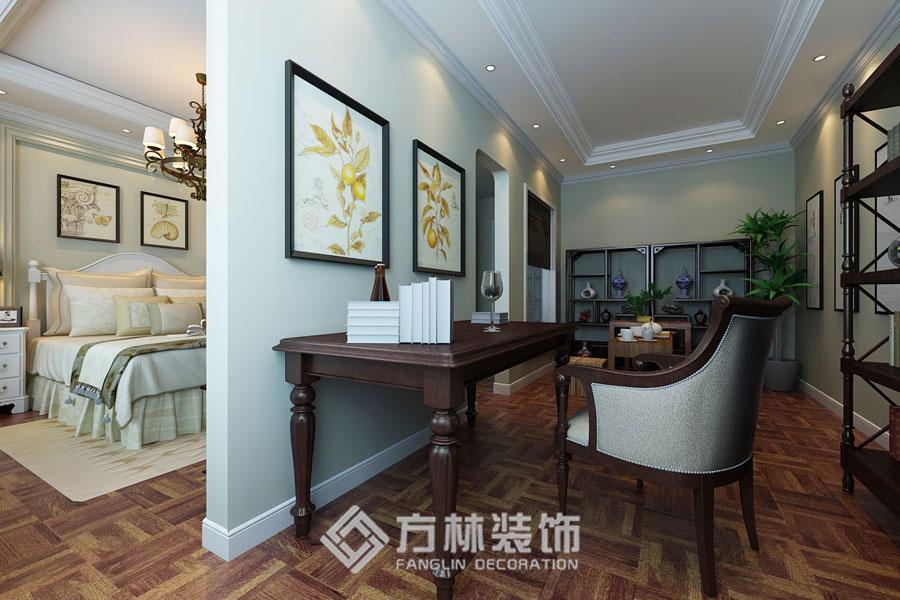 金地名京 港式 书房图片来自方林装饰在金地名京180平港式风格的分享