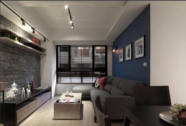 混搭 客厅图片来自四川岚庭装饰工程有限公司在70平米混搭风一居室的分享
