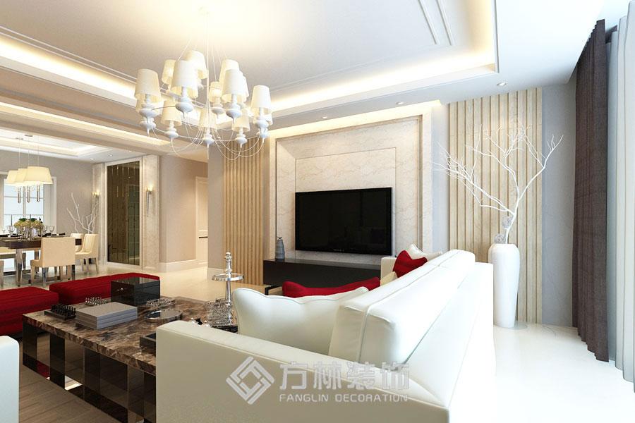 金地名京 港式 客厅图片来自方林装饰在金地名京180平港式风格的分享