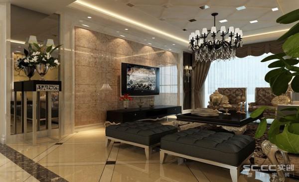 用惯有的欧式元素将整体的风格定义一个框架,深色的家具将空间变得更加成稳,让画面在奢侈的简约中有一丝平凡的华丽