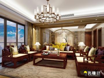 第六都现代中式四居室