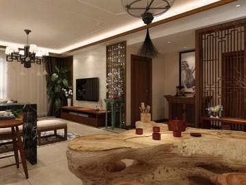 四居室晓港名城中式装修设计