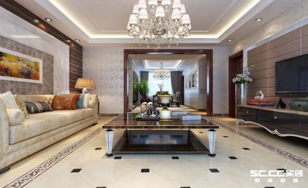 最重要的是客厅简单大方满足了客户的安逸简单的需求,同时将颜色搭配到极致,色重的而不压抑,色浅的也不失奢华。