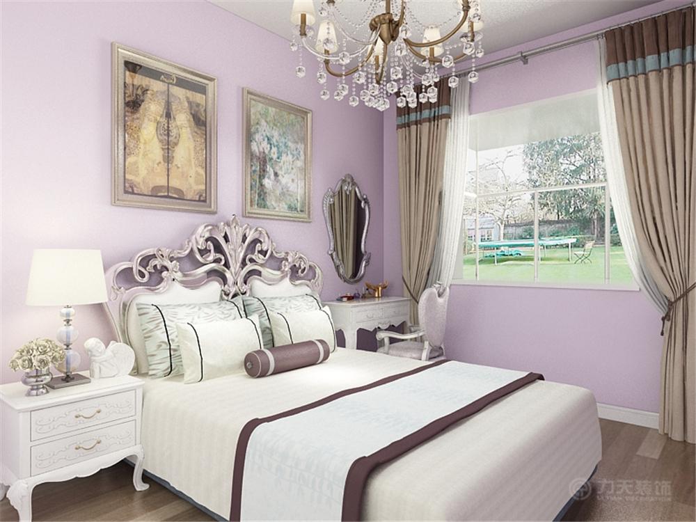 三居 欧式 80后 小资 卧室图片来自阳光放扉er在力天装饰-风荷园140.4的分享