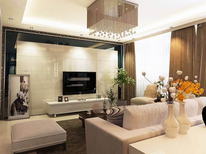 现代 复式 客厅图片来自北京今朝装饰郭风在融科君庭的分享