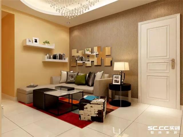 简约 二居 旧房改造 客厅图片来自实创装饰上海公司在美女设计师挑战73㎡简约两居的分享