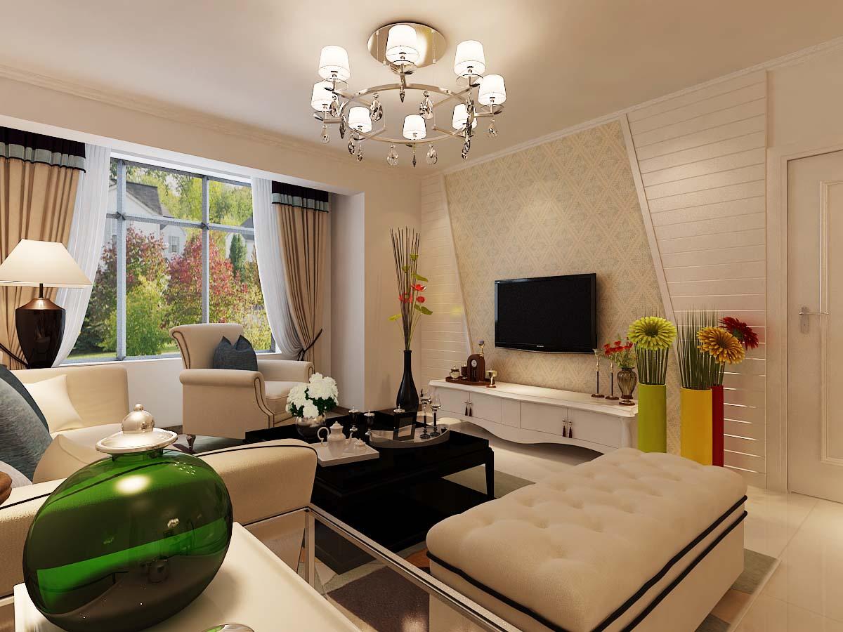 简约 二居 时尚 客厅图片来自太原金尚装饰王卓娅在温馨时尚-府东公馆-89平的分享