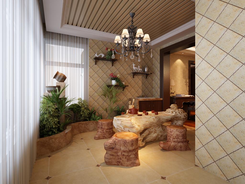 新古典 三居 装饰 装修 小资 阳台图片来自业之峰在线服务的猫在西安业之峰装饰——红枫林的分享