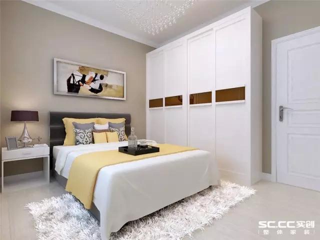 简约 二居 旧房改造 卧室图片来自实创装饰上海公司在美女设计师挑战73㎡简约两居的分享