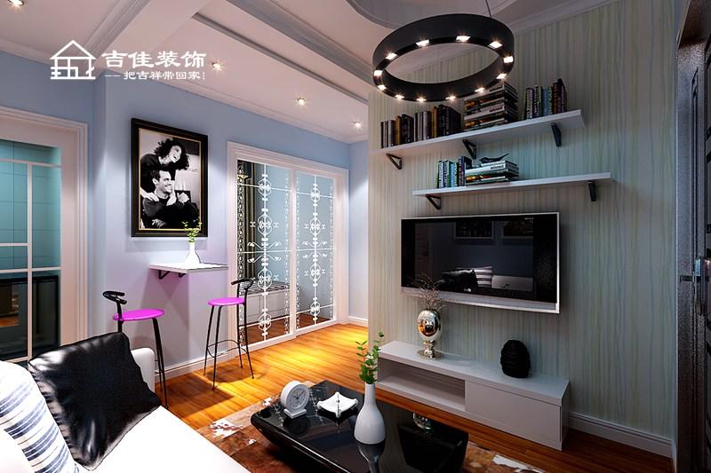 吉佳装饰 装修设计 装修效果图 小公寓效果 简约 混搭 白领 收纳 旧房改造 客厅图片来自合肥吉佳装饰在吉佳装饰|经典华城小公寓案例的分享