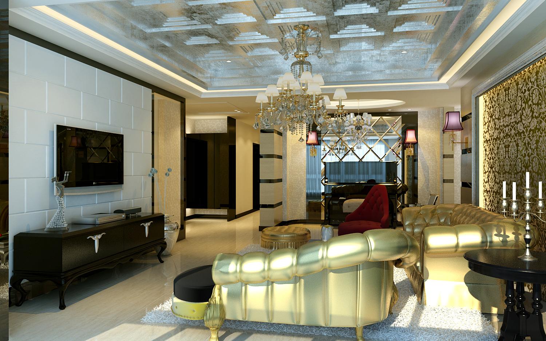 客厅图片来自今朝装饰小徐在望海名居 125平后现在奢华风格的分享