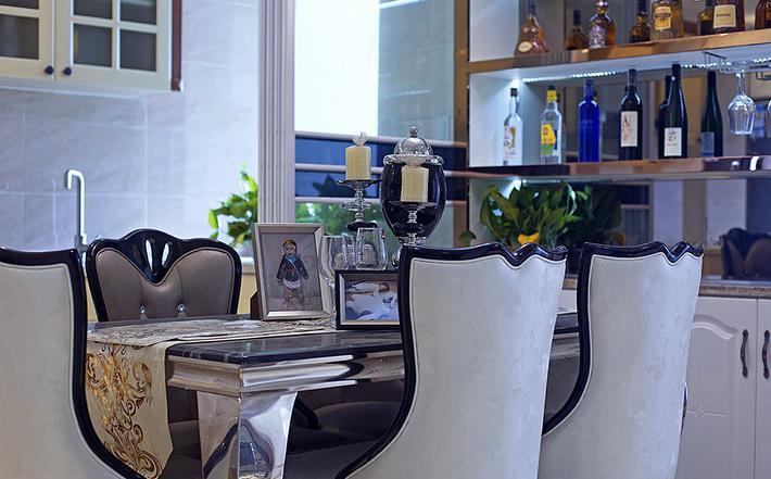 新古典 高端大气 有品位 餐厅图片来自佰辰生活装饰在94平新古典两室两厅的分享