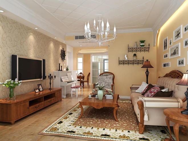 田园 二居 客厅图片来自北京今朝装饰郭风在北大地三里的分享
