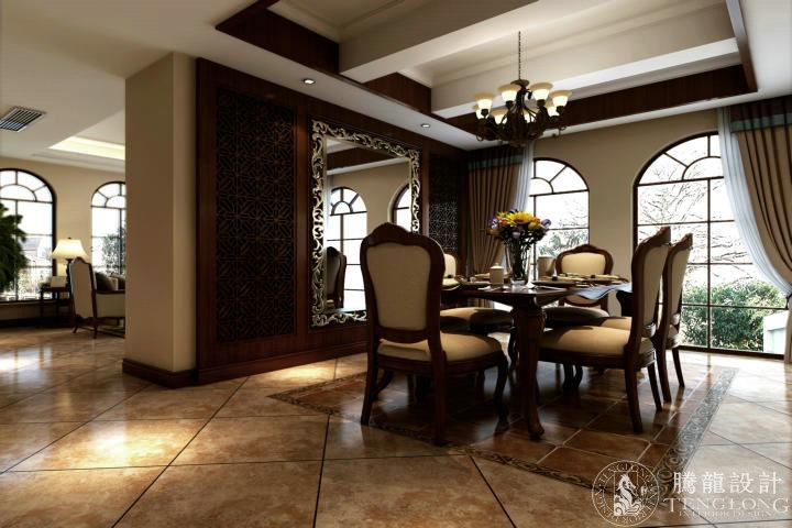 绿地香颂 别墅装修 别墅设计 美式风格 腾龙设计 林财表作品 餐厅图片来自林财表在绿地香颂别墅装修美式风格设计的分享