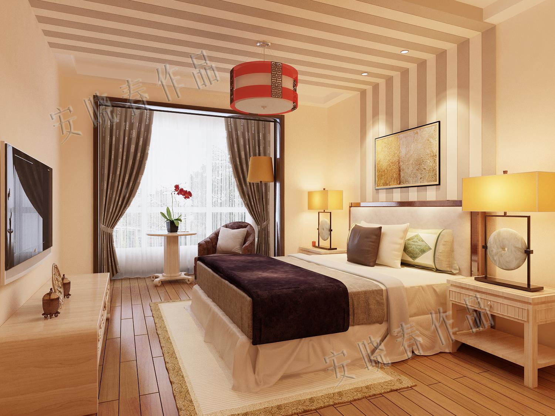 卧室图片来自今朝装饰小徐在四惠东 158平新中式风格的分享