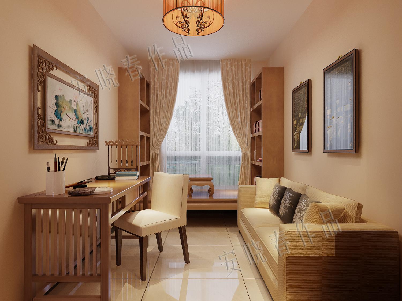 书房图片来自今朝装饰小徐在四惠东 158平新中式风格的分享