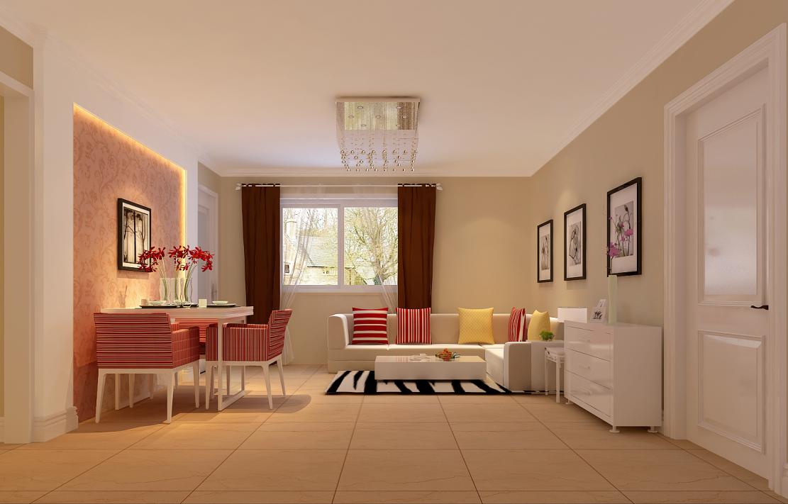 客厅图片来自今朝装饰小徐在弘善家园 80平现代风格的分享