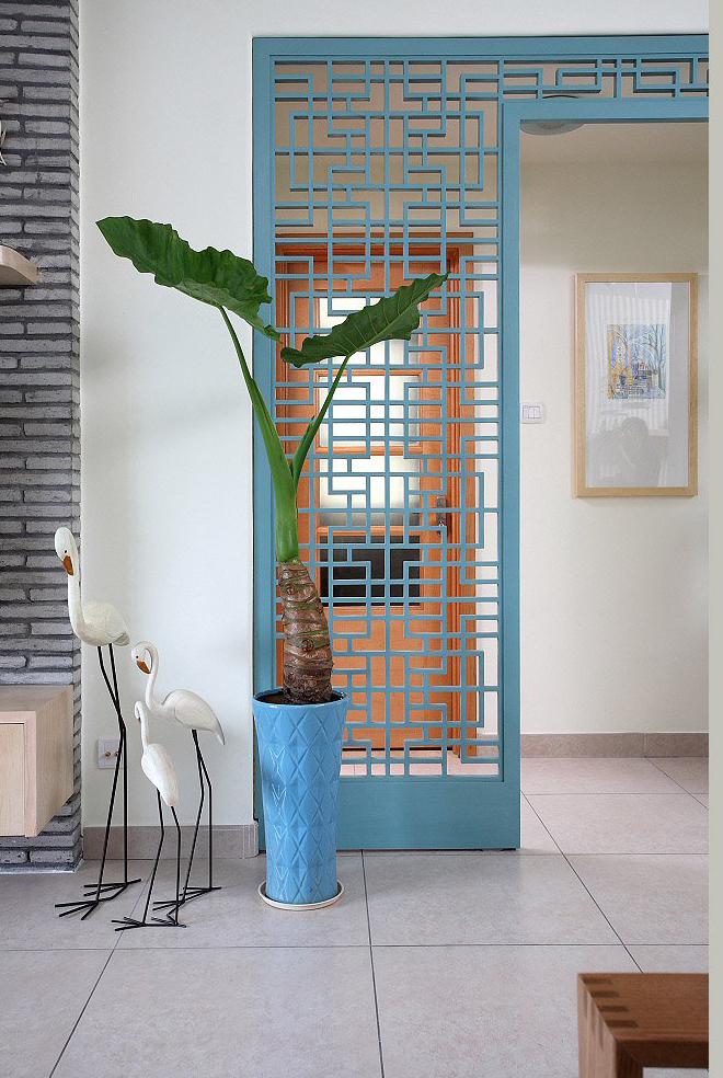 玄关图片来自四川岚庭装饰工程有限公司在清新的现代质感中式风的分享